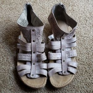 Leather gladiator style sandals